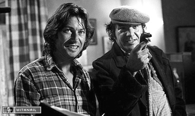 Bruce Robinson on set with Michael Elphick