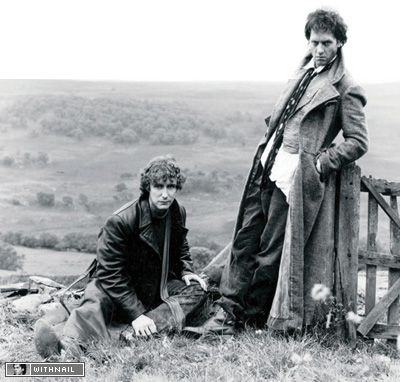 McGann and Grant on set