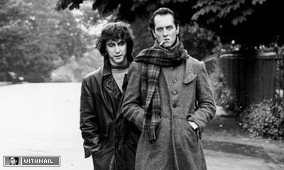Withnail and I wandering through a park