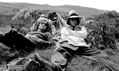 Paul McGann and Richard E Grant on location by Murray Close