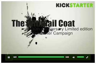 Still from the Withal coat Kickstarter page